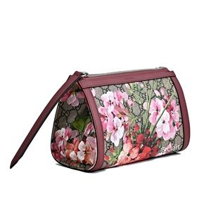 Gucci GG Supreme Canvas Blooms Clutch/Pouch